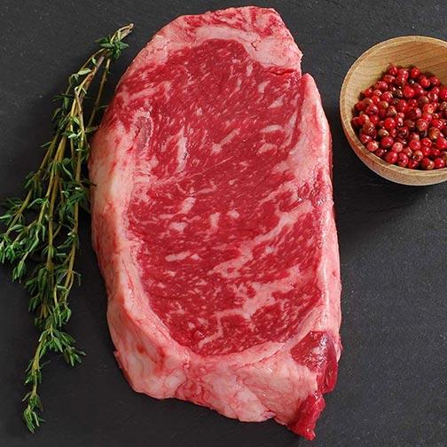Wagyu Beef New York Strip Steak MS8 - Cut To Order